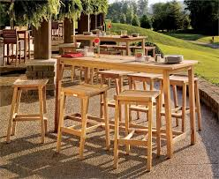 exclusive bar height patio table set boundless table ideas