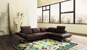 canapé d angle marron deco in canape d angle design en cuir marron aurore angle