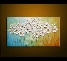 5 piece canvas wall art hand painted palette knife oil 2018 hand painted textured palette knife white flowers oil painting