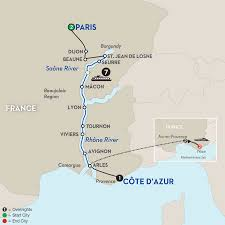 Provence France Map by France River Cruise With Aix En Provence Vacation Avalon Waterways