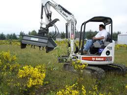 hound excavator mounted brush shredder