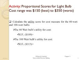 light bulb cost calculator chelst canbolat value added decision making chapter 5 structured