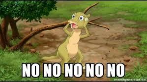 Land Before Time Meme - no no no no no ducky land before time meme generator
