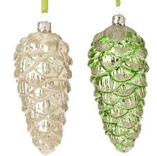 glass pinecone ornaments antique glass pinecone