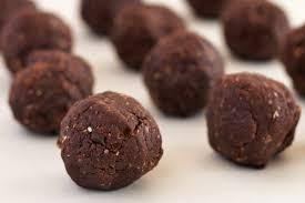 peanut butter chocolate protein balls swah