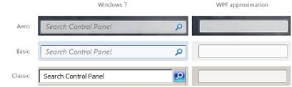 Windows Search Box - c windows explorer like search box on aero glass frame with wpf