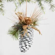 fiber squirrel pinecone ornaments set of 2 world market