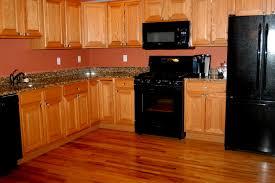 kitchen ideas stainless steel fridge with black appliances red