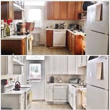 painting kitchen cabinets white diy before after 387 budget kitchen update hometalk