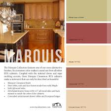 color palette to go with our marquis cinnamon kitchen cabinet line