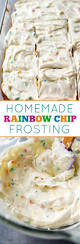 homemade rainbow chip frosting recipe rainbow chip frosting