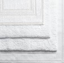 White Cotton Rug Woven Bath Rugs
