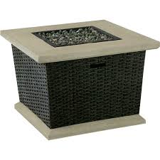 Lp Gas Firepit Allen Roth 34 5 In Somersville Gas Pit Table At Lowe S