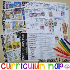 curriculum map preschool pre k and kindergarten for the whole