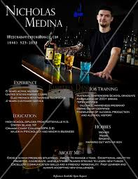 Bartender Resume Example by Free Bartender Resume Template Examples Ms Word Best Resume