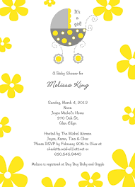 yellow and gray baby shower yellow gray bassinet baby shower invitation pj greetings