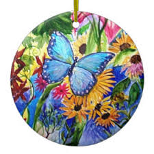 blue butterfly ornaments keepsake ornaments zazzle