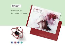 editable portfolio catalog template in psd word publisher indesign