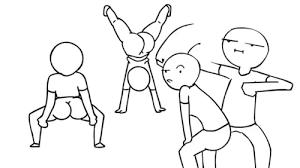 Twerk Meme - stick figures twerk team gif wifflegif