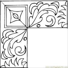 nice frame coloring page free pattern coloring pages