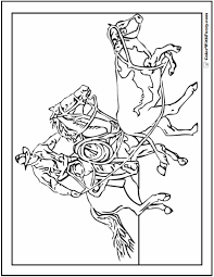 cowboy horse coloring