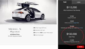 tesla model x pricing and availability inconsistencies and lack
