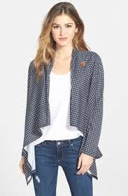 Plaid Cardigan Womens Bobeau Two Pocket Fleece Cardigan Taupe Zappos Com Free Shipping