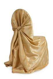 universal chair covers universal taffeta self tie chair cover gold at cv linens cv linens
