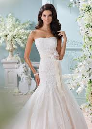 strapless hand beaded lace trumpet wedding dress 116225 thea
