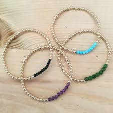 gemstone bead bracelet images 3mm 14k gold filled bead bracelet with gemstones lizzy shaw studio jpg