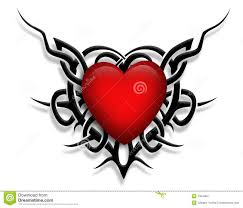 tribal design heart graphic tattoo stock images image 7904484