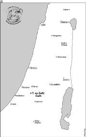 Map Of Isreal A Map Of Israel With Location Of Tell Es S ˆfi Gath B Map