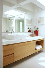 scandinavian bathroom teak white marble sonarchitecture