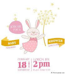 rabbit invitation baby shower invitations interesting baby shower invitation cards