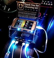 lyft light up beacon uber lyft sign tip box with 5 usb port rapid charging station 4