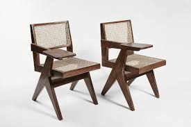 Wicker Desk Accessories by Pierre Jeanneret