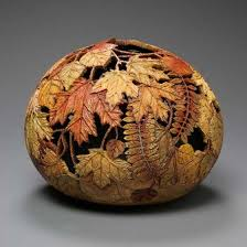 amazing gourd carving by marilyn sunderland design swan