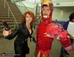 Iron Man Halloween Costume Ironman Black Widow Couples Halloween Costume Photo 2 2