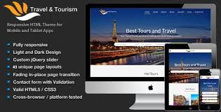 travel tourism tour booking html5 template