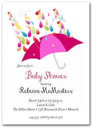umbrella baby shower raindrops pink umbrella girl baby shower invitations