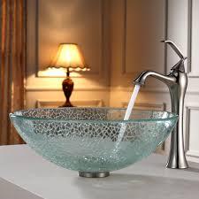 bathroom using vessel faucet