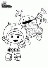 milli geo bot climb ladder team umizoomi coloring