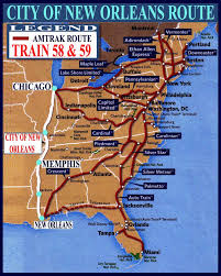 Amtrack Route Map by Riding On The City Of New Orleans With Anne Hills Anne Hills