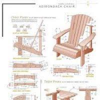 chaise adirondack plan azontreasures com