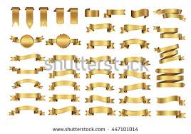 gold ribbons gold vector banners free vector stock graphics