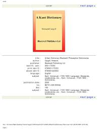 undercut dictionary a kant dictionary immanuel kant thesis