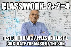 Test Meme - classwork 2 2 4 test john had 3 apples and lost 1 calculate the