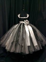 black and silver flower dress tulle flower dress tutu