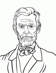 free abraham lincoln coloring page regarding abraham lincoln