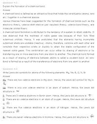 ncert solutions for class 11th chemistry chapter 4 u2013 chemical
